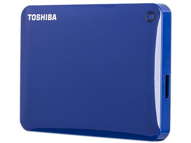 TOSHIBA Canvio Connect II 500GB USB 3.0 Portable Hard Drive HDTC805XL3A1 Blue