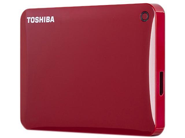 TOSHIBA Canvio Connect II 1TB USB 3.0 Portable Hard Drive HDTC810XR3A1 Red