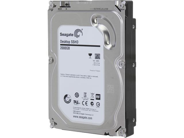 Seagate Hybrid Drive ST2000DX001 2TB MLC/8GB 64MB Cache SATA 6.0Gb/s NCQ 3.5