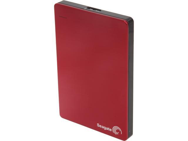 Seagate Backup Plus Slim 1TB USB 3.0 Portable Hard Drive STDR1000103 Red