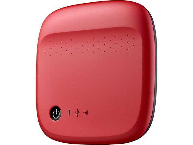 Seagate 500GB USB 2.0 / WiFi Wireless Mobile External Hard Drive STDC500402 Red