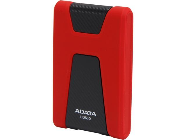 ADATA DashDrive Durable HD650 1TB USB 3.0 External Hard Drive AHD650-1TU3-CRD Red