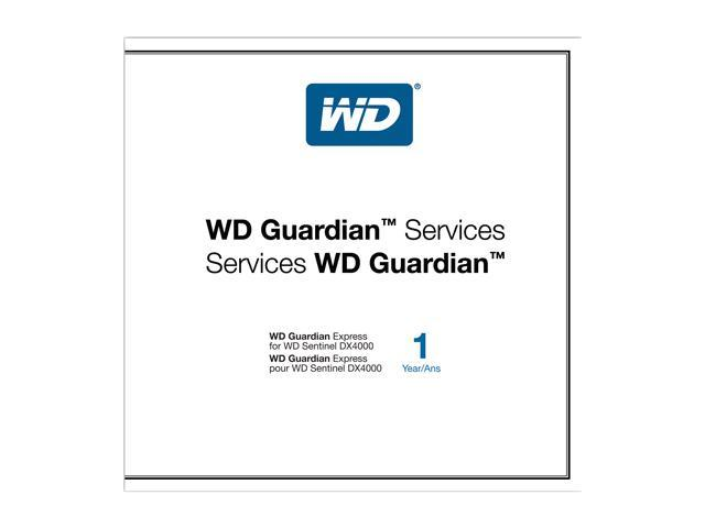 WD WDBBBT0000NNC-NASN Guardian Express 1 Year Plan For WD Sentinel DX4000