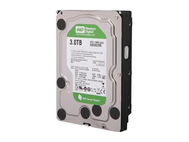 Western Digital WD Green WD30EZRS 3TB IntelliPower 64MB Cache SATA 3.0Gb/s 3.5