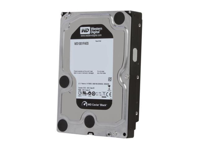 Western Digital Black WD1001FAES 1TB 7200 RPM 64MB Cache SATA 3.0Gb/s 3.5