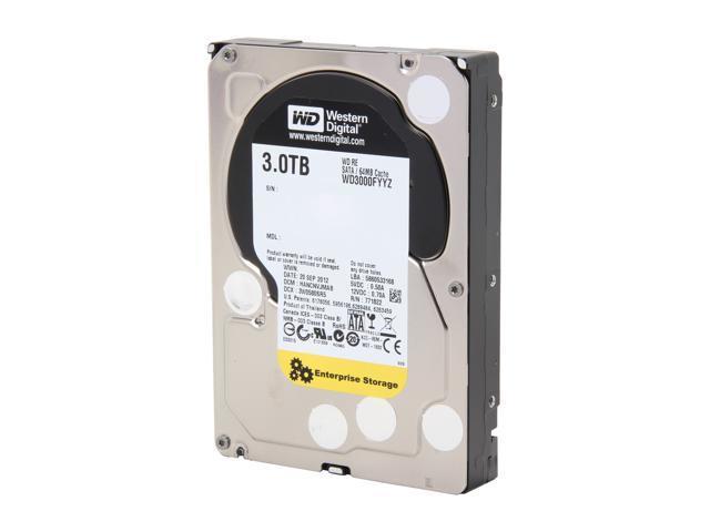 Western Digital RE WD3000FYYZ 3TB 7200 RPM 64MB Cache SATA 6.0Gb/s 3.5