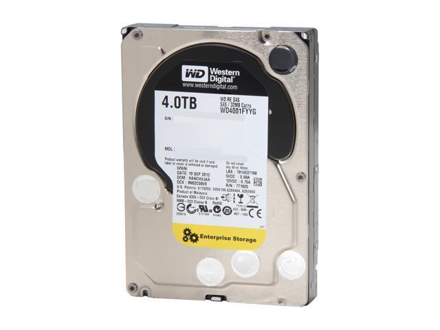 Western Digital RE WD4001FYYG 4TB 7200 RPM 32MB Cache SAS 6Gb/s 3.5