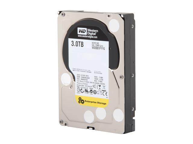 Western Digital RE WD3001FYYG 3TB 7200 RPM 32MB Cache SAS 6Gb/s 3.5