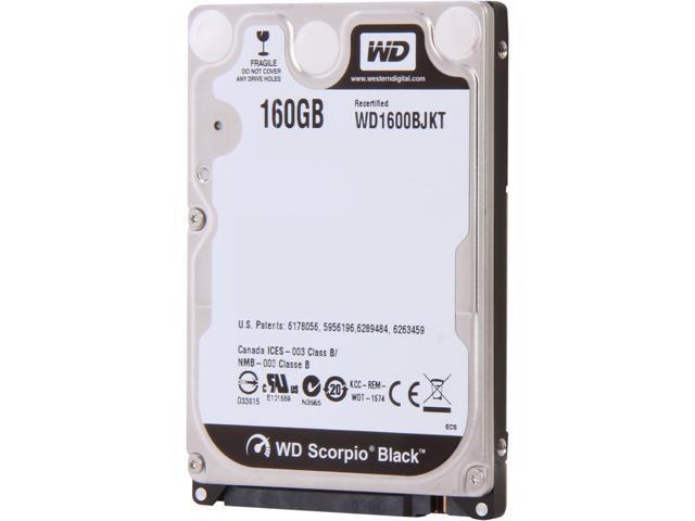 Western Digital Scorpio Black WD1600BJKT 160GB 7200 RPM 16MB Cache SATA 3.0Gb/s 2.5