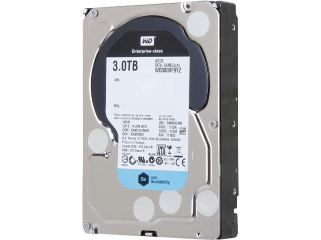 WD SE WD3000F9YZ 3TB 7200 RPM 64MB Cache SATA 6.0Gb/s 3.5