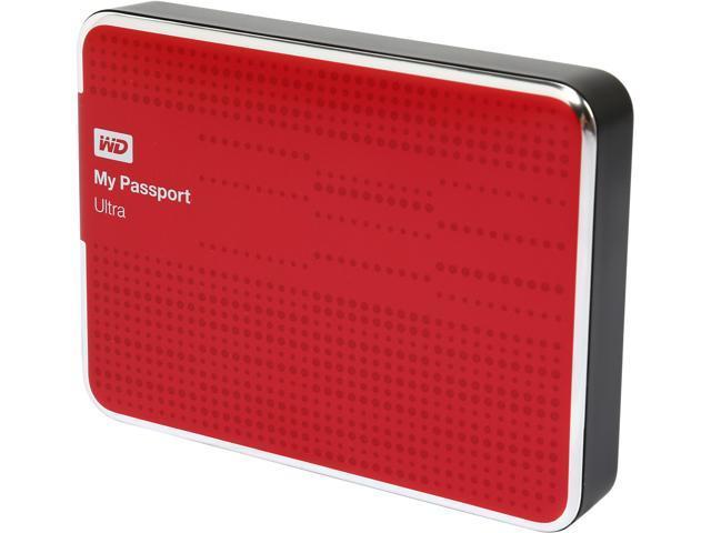 WD My Passport Ultra 2TB USB 3.0 Portable Hard Drive WDBMWV0020BRD-NESN Red