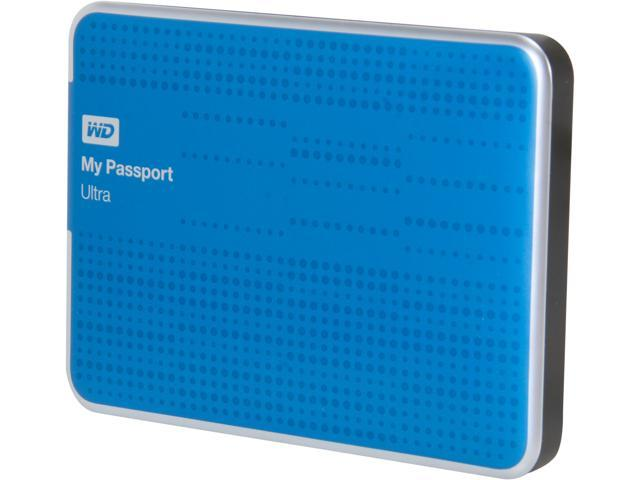 WD My Passport Ultra 500GB USB 3.0 Portable Hard Drive WDBPGC5000ABL-NESN Blue