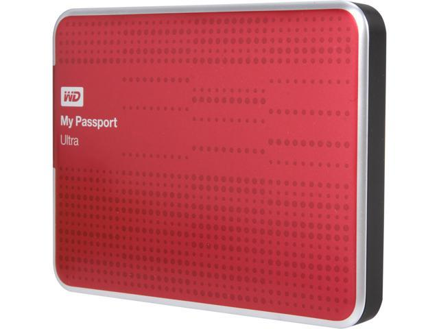 WD My Passport Ultra 500GB USB 3.0 Portable Hard Drive WDBPGC5000ARD-NESN Red