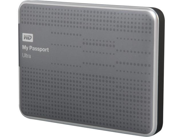 WD My Passport Ultra 500GB USB 3.0 Portable Hard Drive WDBPGC5000ATT-NESN Titanium