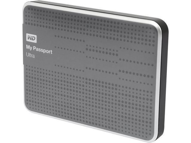 WD My Passport Ultra 1TB USB 3.0 Premium Portable Storage WDBZFP0010BTT-NESN Titanium