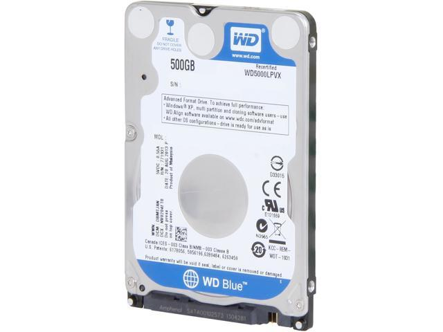 WD Blue WD5000LPVX 500GB 5400 RPM 8MB Cache SATA 6.0Gb/s 2.5