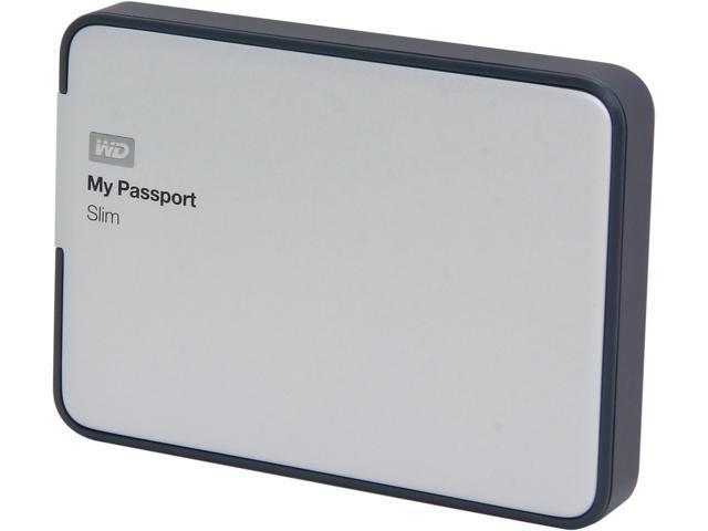 WD My Passport Slim 2TB USB 3.0 / USB 2.0 Portable Storage WDBPDZ0020BAL-NESN
