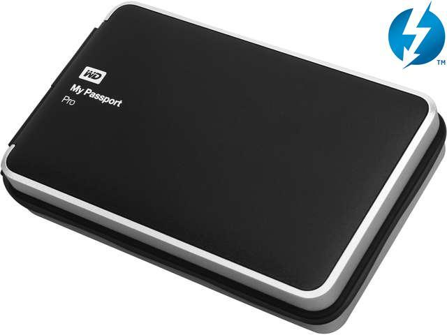 WD My Passport Pro 2TB portable RAID storage with integrated Thunderbolt cable Model WDBRMP0020DBK-NESN
