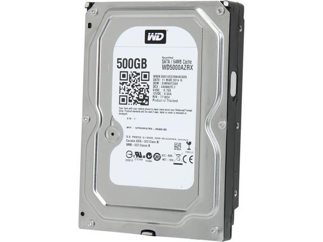 WD Green WD5000AZRX-FR 500GB IntelliPower 64MB Cache SATA 6.0Gb/s 3.5