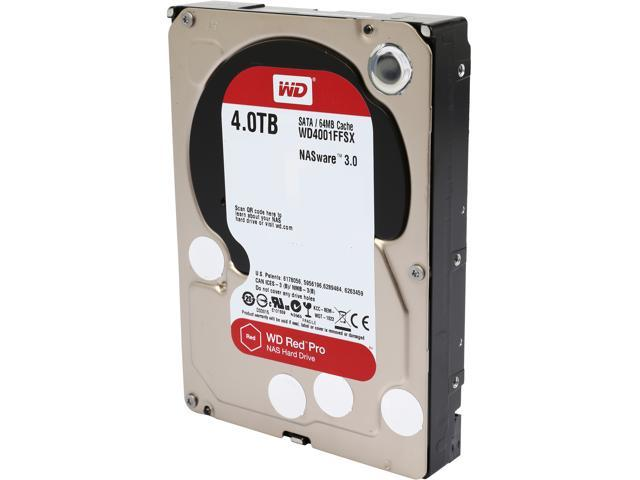 WD Red Pro 4 TB NAS Hard Drive WD4001FFSX up to 16 bay: 3.5-inch SATA 6, 64MB Cache