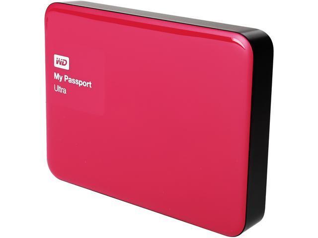 WD My Passport Ultra 3TB USB 3.0 Premium Portable Storage WDBBKD0030BBY-NESN Wild Berry