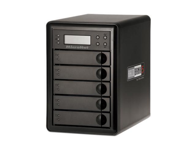 Fantom Drives by Micronet RAIDBank5 Diskless eSATA / USB3.0 / 1394a / 1394b Tower Quad, Desktop Hardware RAID includes PCI-E USB 3.0 HBA ...
