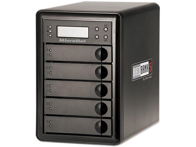 Fantom Drives by Micronet 20TB eSATA / USB3.0 / 1394a / 1394b Tower Quad, Desktop Hardware RAID includes PCI-E USB 3.0 HBA RB5-20000 Black