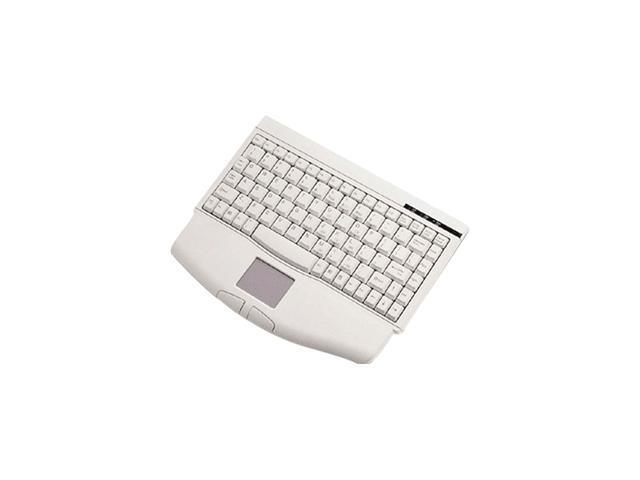 SolidTek ACK-540 White 88 Normal Keys USB Mini Keyboard with TOUCH PAD Mouse Included