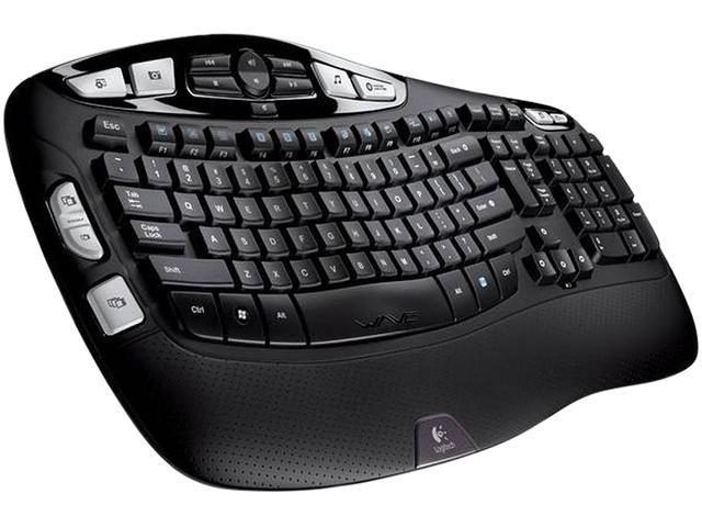 Logitech K350 2.4GHz Wireless Ergonomic Keyboard - Black