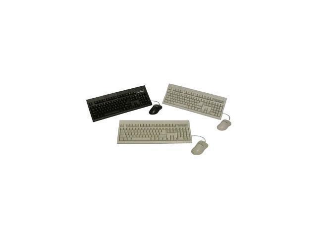KeyTronic KT800P2M10PK Black 104 Normal Keys PS/2 Standard Keyboard & Mouse Bundle - 10 Pack