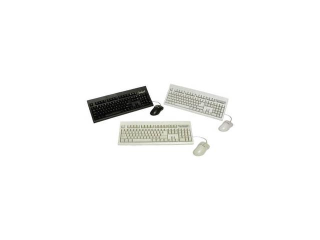 KeyTronic TAG-A-LONG-P2 Black 104 Normal Keys PS/2 Standard Keyboard & Mouse Bundle