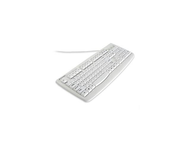 Kensington K64406US White 104 Normal Keys USB or PS/2 Wired Standard Washable Keyboard with Antimicrobial Protection