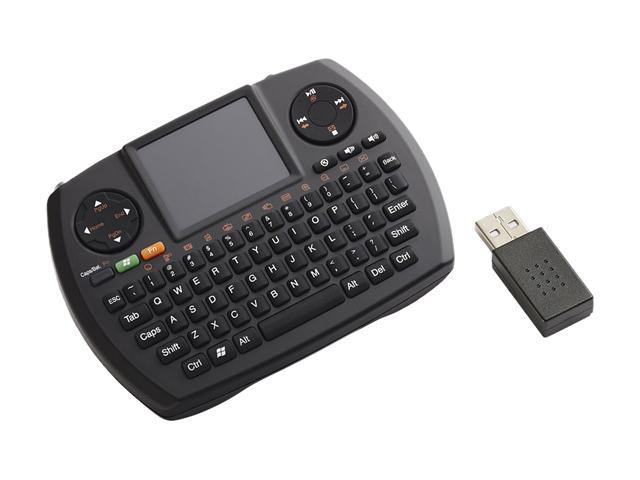 SMK-LINK VP6364 Black USB RF Wireless Ultra-Mini Touchpad Keyboard