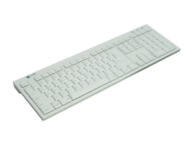macally BTkey Ice White 108 Normal Keys Bluetooth Wireless Ultra Slim Keyboard for Mac