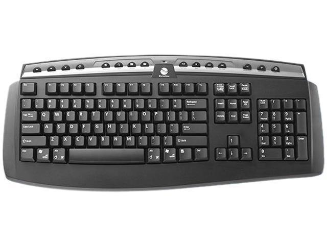Gyration Classic Full-Size Wireless Keyboard GYAM-FSKB-NA Black 101 Normal Keys USB RF Wireless Standard Keyboard