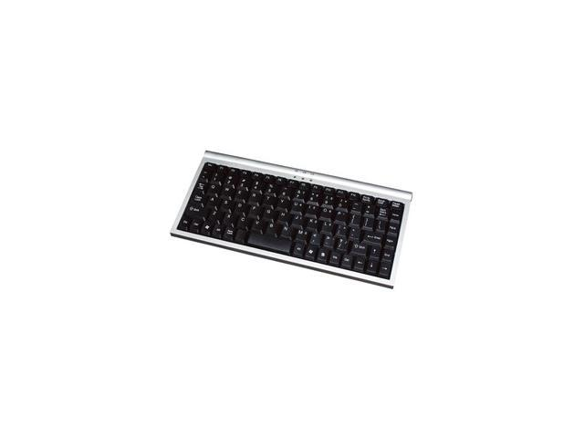 GEAR HEAD KB1500U Black&Silver 89 Normal Keys USB Mini Keyboard
