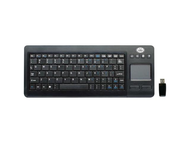GEAR HEAD KB3800TPW Black 84 Normal Keys USB RF Wireless Desktop Keyboard