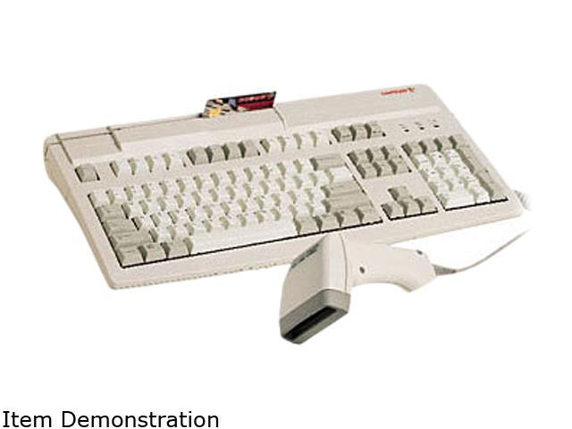 Cherry G81-8000LUVEU-0 POS Keyboard with 3-track Magnetic Stripe Reader