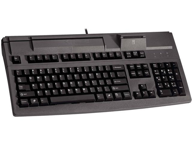 Cherry G81-8040LUVEU-2 G81-8040 POS Keyboard with MSR and Smart Card Reader