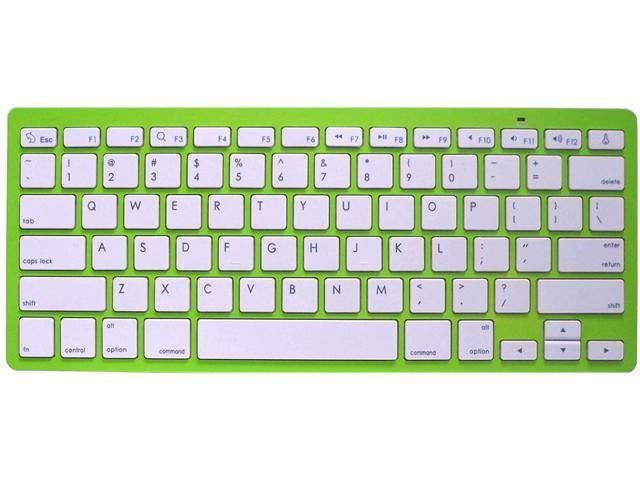Rocksoul BK-101001GW Green 10 Function Keys Bluetooth Wireless Slim Keyboard for Apple Devices