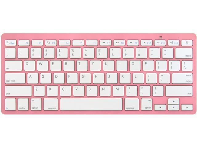 Rocksoul BK-101001PW Pink 10 Function Keys Bluetooth Wireless Slim Keyboard for Apple Devices