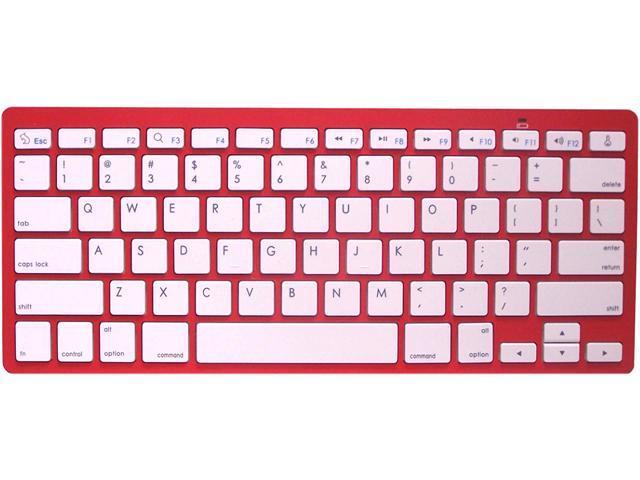 Rocksoul BK-101001RW Red Bluetooth Wireless Keyboard for Apple Devices