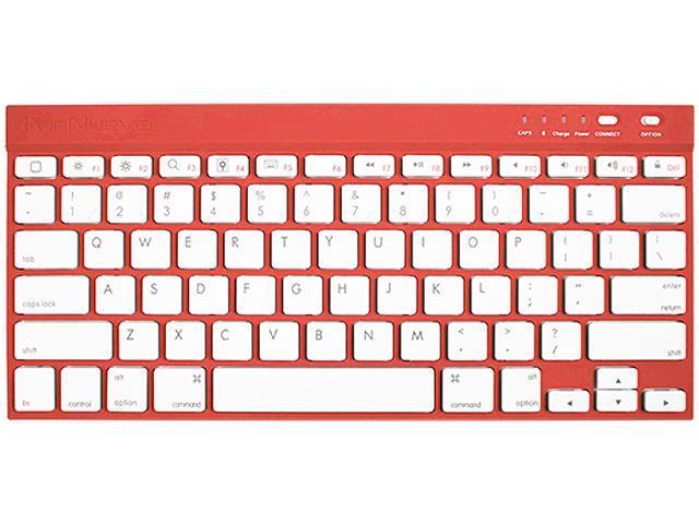 InNuevo 3142KRR Ruby Red Bluetooth Wireless Mini Keyboard