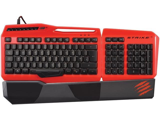 Mad Catz S.T.R.I.K.E. 3 Gaming Keyboard for PC - Red