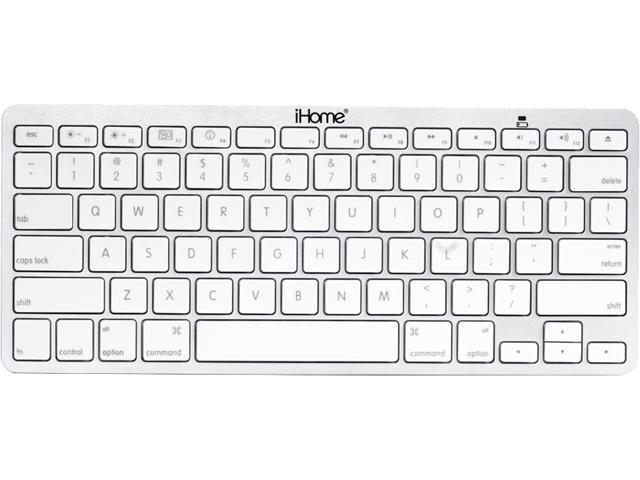 iHome IMAC-K111S Silver Bluetooth Wireless Keyboard