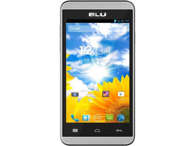 BLU Dash Music 4.0 D272a Unlocked GSM Dual-SIM Android Cell Phone - Silver - OEM