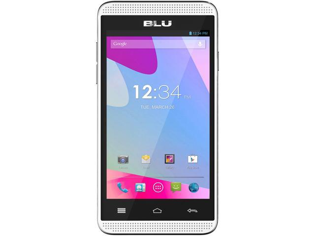BLU Dash Music 4.0 D272a Unlocked GSM Dual-SIM Android Cell Phone - Black - OEM