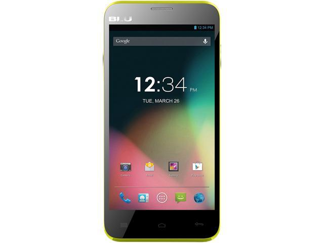BLU Dash 5.0 D410a Unlocked GSM Dual-SIM Android Cell Phone - Yellow