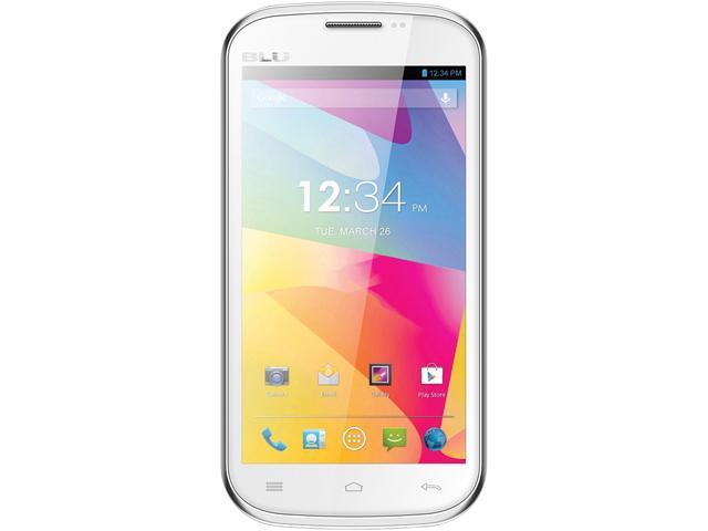 Blu Studio 5.0 E D530e White Dual-Core Unlocked GSM Dual-SIM Android Cell Phone