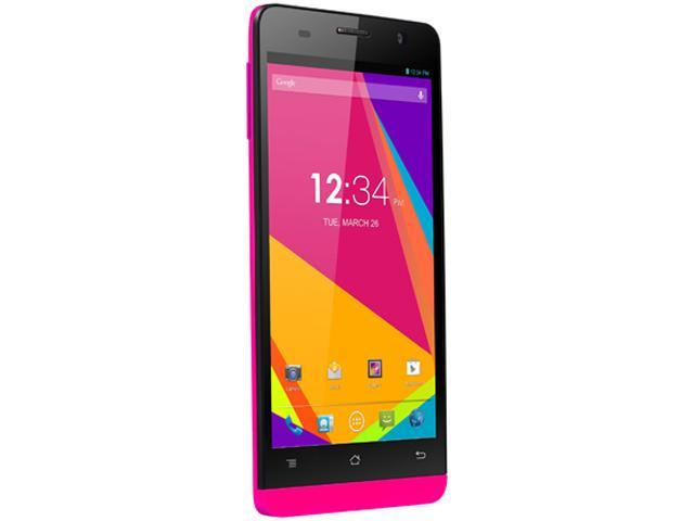 Blu Studio 5.0 S II D572A Pink 3G Quad-Core 1.3GHz Unlocked GSM Android Cell Phone